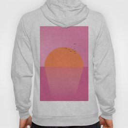 Sunset travel poster print cartoon Hoody