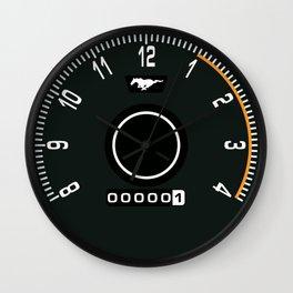 Mustang Tachometer Clock Wall Clock