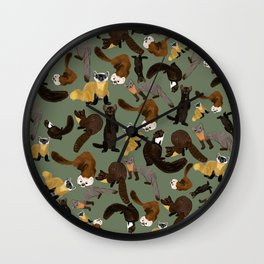 Martens of the World #1 Wall Clock