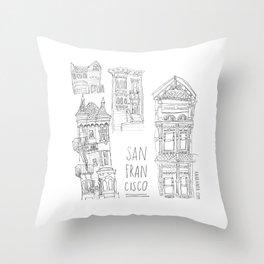 San Francisco! Throw Pillow