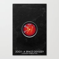 2001 a space odyssey Canvas Prints featuring 2001: A Space Odyssey by Peter Warkentin