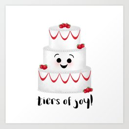 Tiers Of Joy! Wedding Cake Art Print