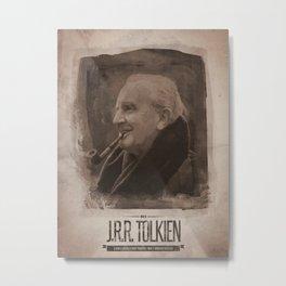 J.R.R. Tolkien Metal Print