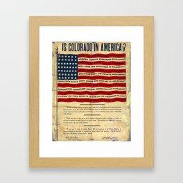Is Colorado In America? 1903 WFM Poster Framed Art Print