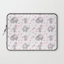 Pink Elephant Baby Girl Nursery Laptop Sleeve