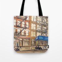 les mis Tote Bags featuring LES by Yarden