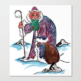 Sasha the Christmas Tiger Canvas Print