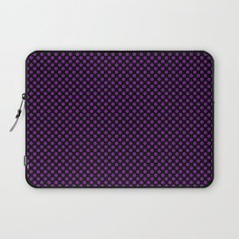 Black and Winterberry Polka Dots Laptop Sleeve