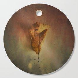 Lonely Autumn Leaf Cutting Board