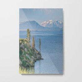 Yellowstone Lake Mountains Print Metal Print