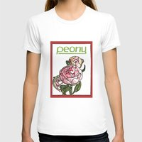 peony T-shirts featuring Peony by Ken Coleman