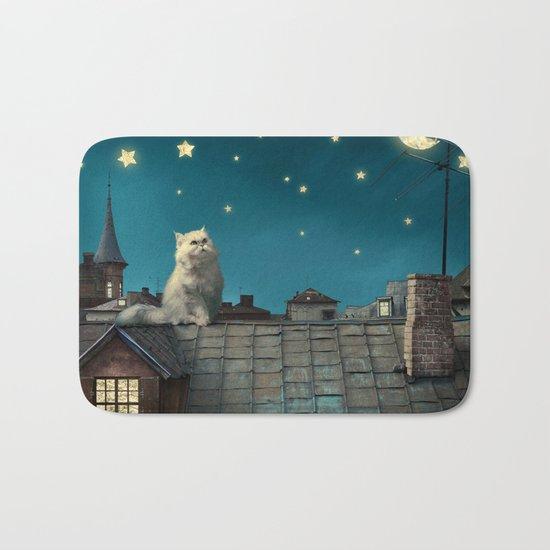 Star Cat Bath Mat