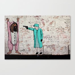 Street Art London Queen Thug Urban Wall Graffiti Artist Prolifik Canvas Print