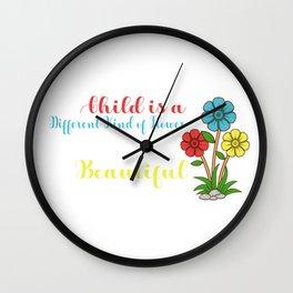 Children flower Kindergarten Teacher Gift Wall Clock