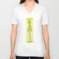 captain V-neck T-shirts featuring Captain by Derek Eads