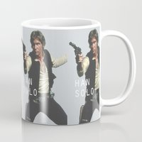 han solo Mugs featuring Han Solo / Star / Wars by Earl of Grey