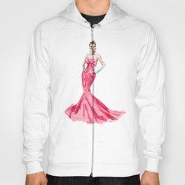 Sabrina / Hepburn Fuschia Pink Red | Fashion Gown Dress Hoody