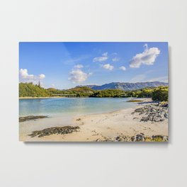 Silver Sands of Morar 6 Metal Print