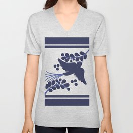 Talavera Blue Bird Unisex V-Neck