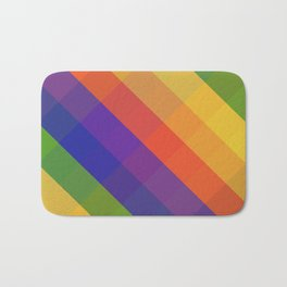 CRISS CROSS RAINBOW... Bath Mat