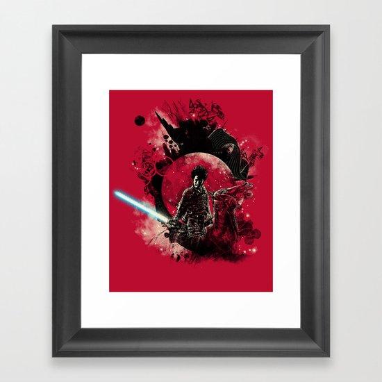 bad side of the samurai Framed Art Print