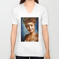laura palmer V-neck T-shirts featuring Who Pixelated Laura Palmer :; Twin Peaks by Kristin Frenzel