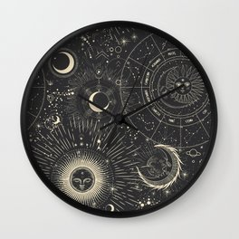Space patterns Wall Clock