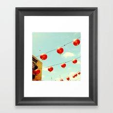 Lanterns III, Chinatown Framed Art Print