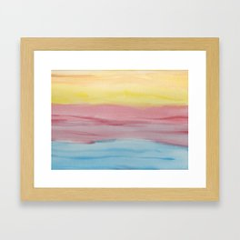 Primary Color Swatches Framed Art Print