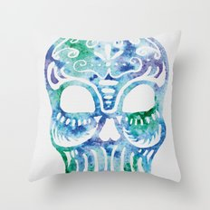 Watercolor Dia de la Mortes Throw Pillow