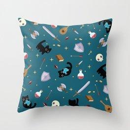 D&D Smudge Pattern Throw Pillow