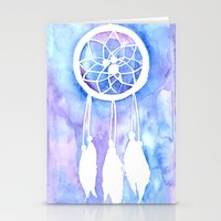 dream catcher Stationery Cards featuring Dream Catcher by Robin Ewers