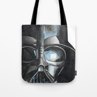 darth Tote Bags featuring Darth by Michael Hewitt