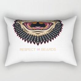 Bearded Dragon - Respect the Beard T-Shirt Rectangular Pillow