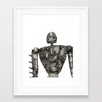 laputa Framed Art Prints featuring Laputa Robot by Leanne Engel