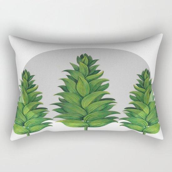 three green trees Rectangular Pillow