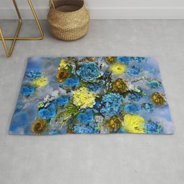 HYDRANGEA AND ROSES Rug