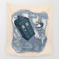 hallion Wall Tapestries featuring Falling by Karen Hallion Illustrations