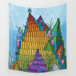Rainbow Towers Wall Tapestry