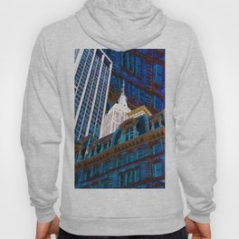 New York City Up Is Down Down Is Up Blue Hoody