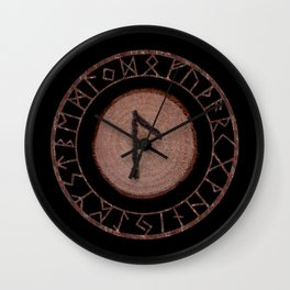Laguz Elder Futhark Rune of the unconscious context of becoming or the evolutionary process Wall Clock