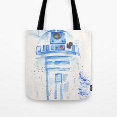 R2-D2 R2D2 droid watercolor Wars Scifi Star FAnart Tote Bag