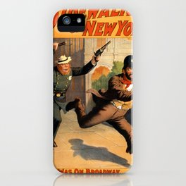 'Buttons' McGurk, 'king of the bums', 'does up' the 'copper' on Herald Square. iPhone Case