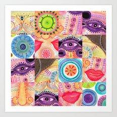 vibrant playful rhythm Art Print