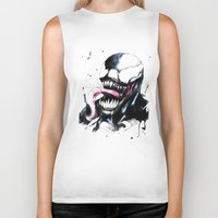 venom Biker Tanks featuring Venom  by Liam Shaw Illustration