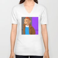 tintin V-neck T-shirts featuring Tintin, the young reporter by DocPastor