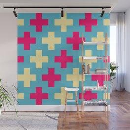 Pink Crosses Wall Mural