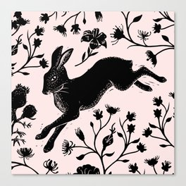 Hare & Vines Canvas Print