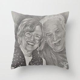 Charles an Gina Throw Pillow