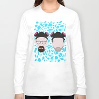jesse pinkman Long Sleeve T-shirts featuring Walter White and Jesse Pinkman by Raquel Segal